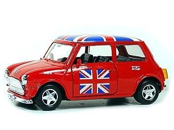 Mini Kühlschrank Union Jack : Mini cooper model red with union jack top made of die cast metal