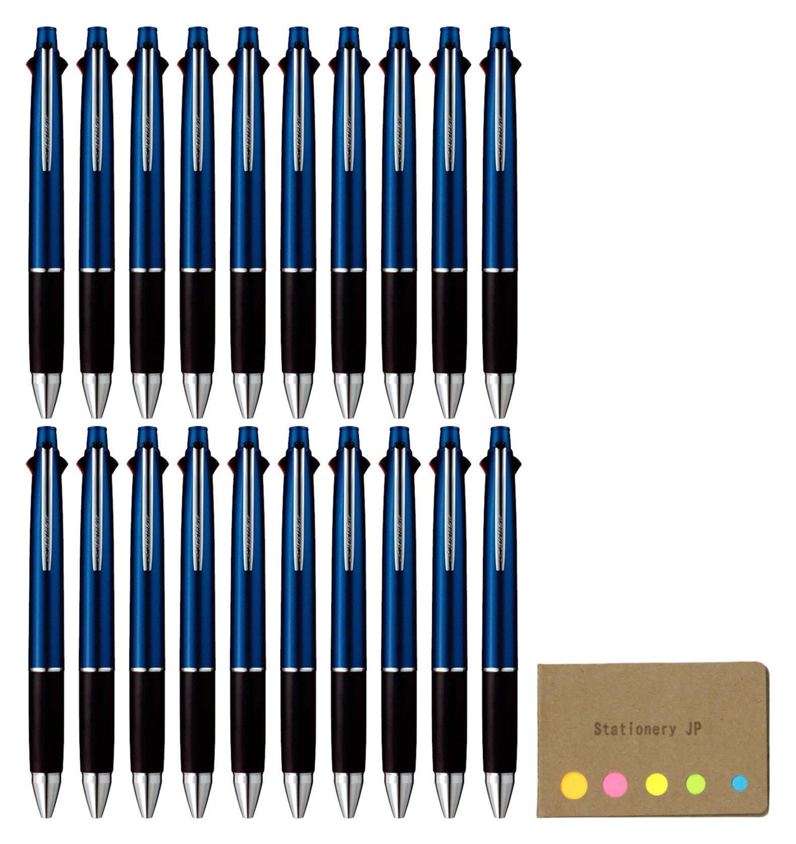 Uni-ball Jetstream 4&1 4 Color Extra Fine Point 0.38mm Ballpoint Multi Pen, Navy Barrel, 20-pack, Sticky Notes Value Set