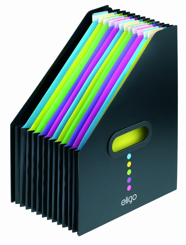Snopake 15171 Eligo 13 Part Desk Storage Expander A4 Portrait Black: Amazon.co.uk: Office Products