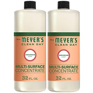 Mrs. Meyer's Clean Day Multi-Surface Concentrate, Geranium Scent, 32 ounce bottle (Pack of 2)