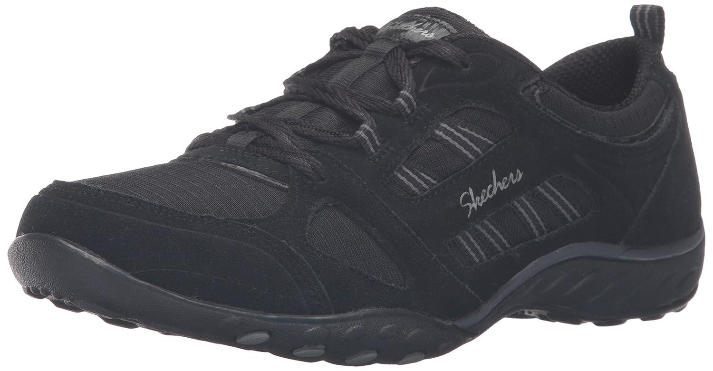Skechers Damen Breathe-Easy-Good Luck Sneakers  35 EU|Schwarz (Blk)
