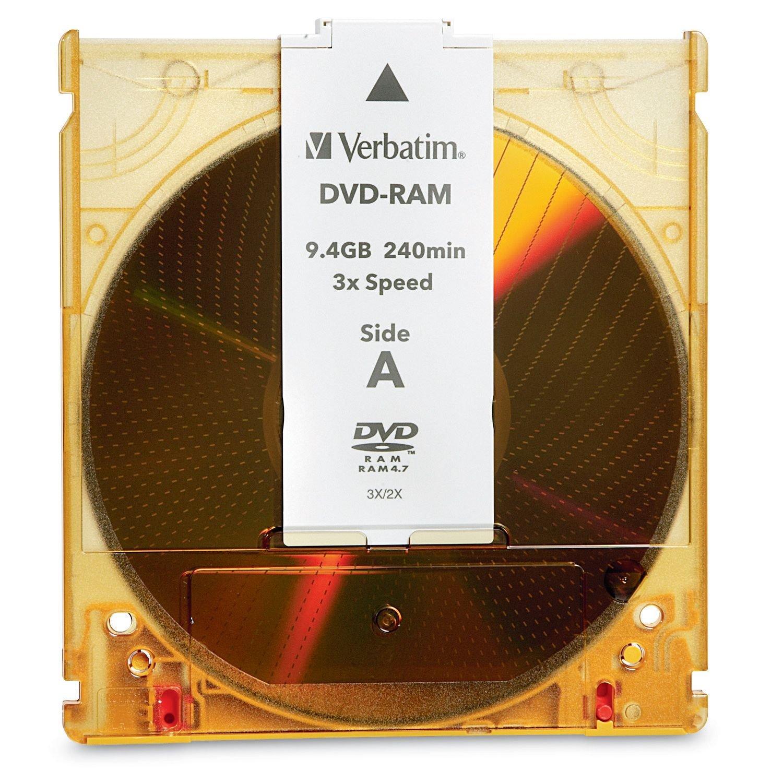 Verbatim dvd rw 4 7gb 4x with branded surface 30pk spindle 4 7gb - Verbatim Dvd Ram 9 4gb 3x Double Sided Type 4 Cartridge 1pk 95003