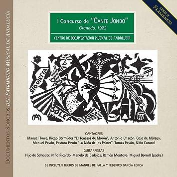 """I Concurso de """"Cante Jondo"""", organizado por Falla y García ..."""