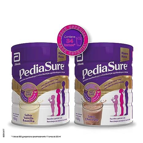 PediaSure Pack de 2 Complemento Alimenticio para Niños con Proteínas, Vitaminas y Minerales - Sabor Vainilla 850 gr y Sabor Chocolate 850 gr