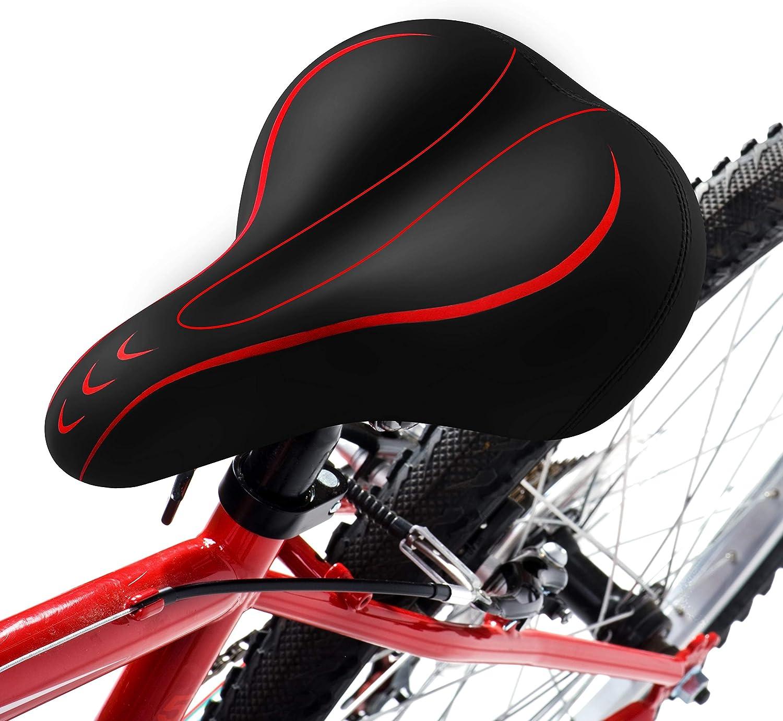 Gineoo - Asiento de bicicleta de gran tamaño, asiento de bicicleta ...