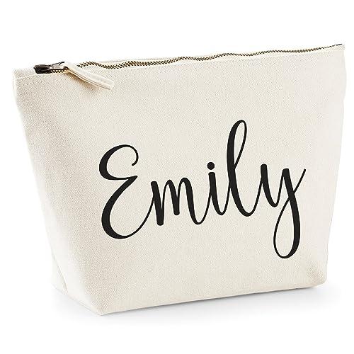8fa3691e0742 Personalised Hand Made Makeup Bag Wash Travel Make Up Bag Accessory Case -  Add Your Name! (Medium)  Amazon.co.uk  Handmade