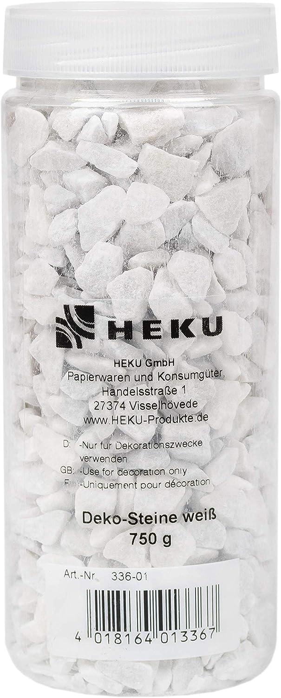 750 Gramm 750g in wiederverschlie/ßbarer Dose HEKU 30336-13: Deko-Steine rot