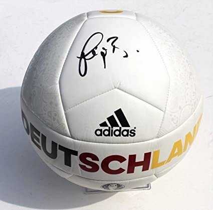 22f2f2571 Bastian Schweinsteiger Signed Germany Deutschland Soccer Ball w/COA Bayern  - Autographed Soccer Balls at Amazon's Sports Collectibles Store