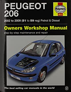 peugeot 206 1 1 1 4 1 6 2 0 petrol 1 4 hdi 1 9 hdi 2001 2006 rh amazon co uk peugeot 206 service manual pdf peugeot 206 service manual chomikuj