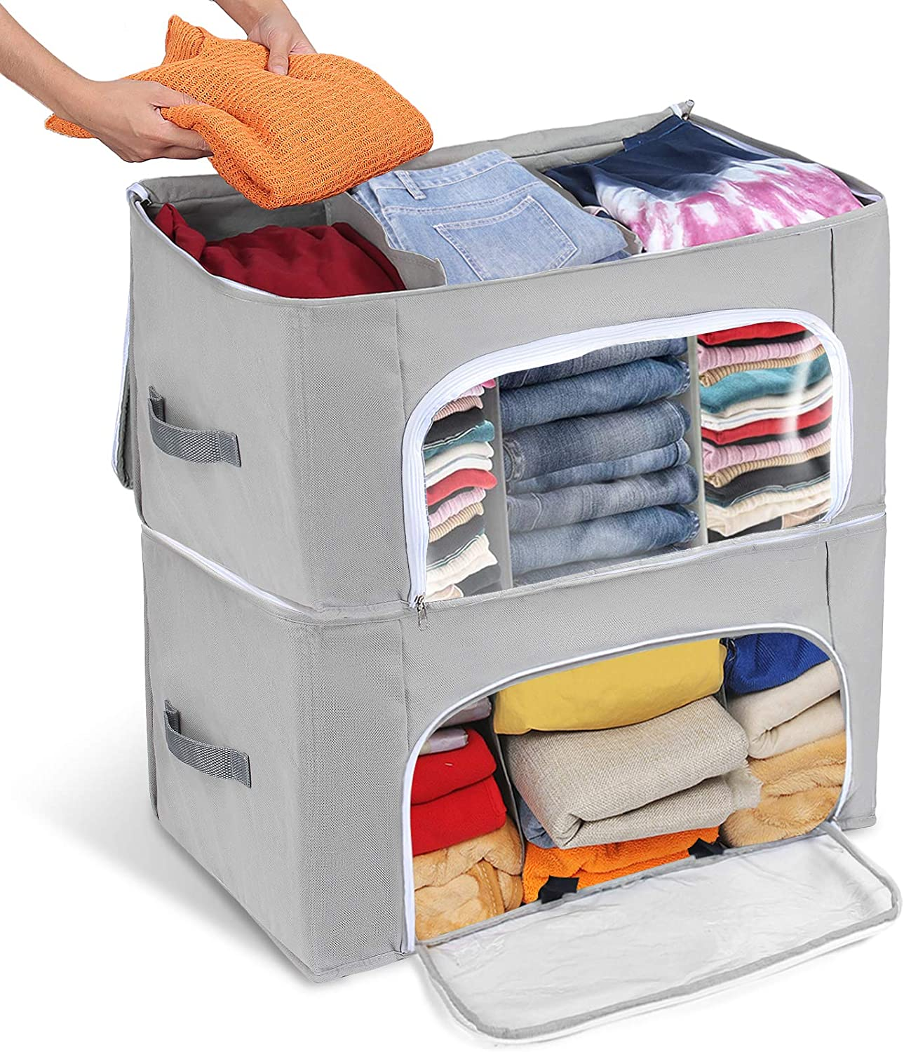 Janolia Clothes Storage Bag, Folding Blanket for Bedspreads, Eco-friendly, Non-Woven Bamboo Fabric WAS £18.99 NOW £12.99 w/code Janolia006 @ Amazon