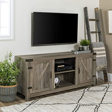 8ccf31179a55e Amazon.com  WE Furniture W58BDSDGW Barn Door TV Stand 58