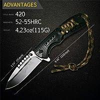 *New* CROCBAIT Knife Folding Pocket Knife Hunting Camping Fishing Survival Tactical Bushcraft with *Free* Quality Keyring