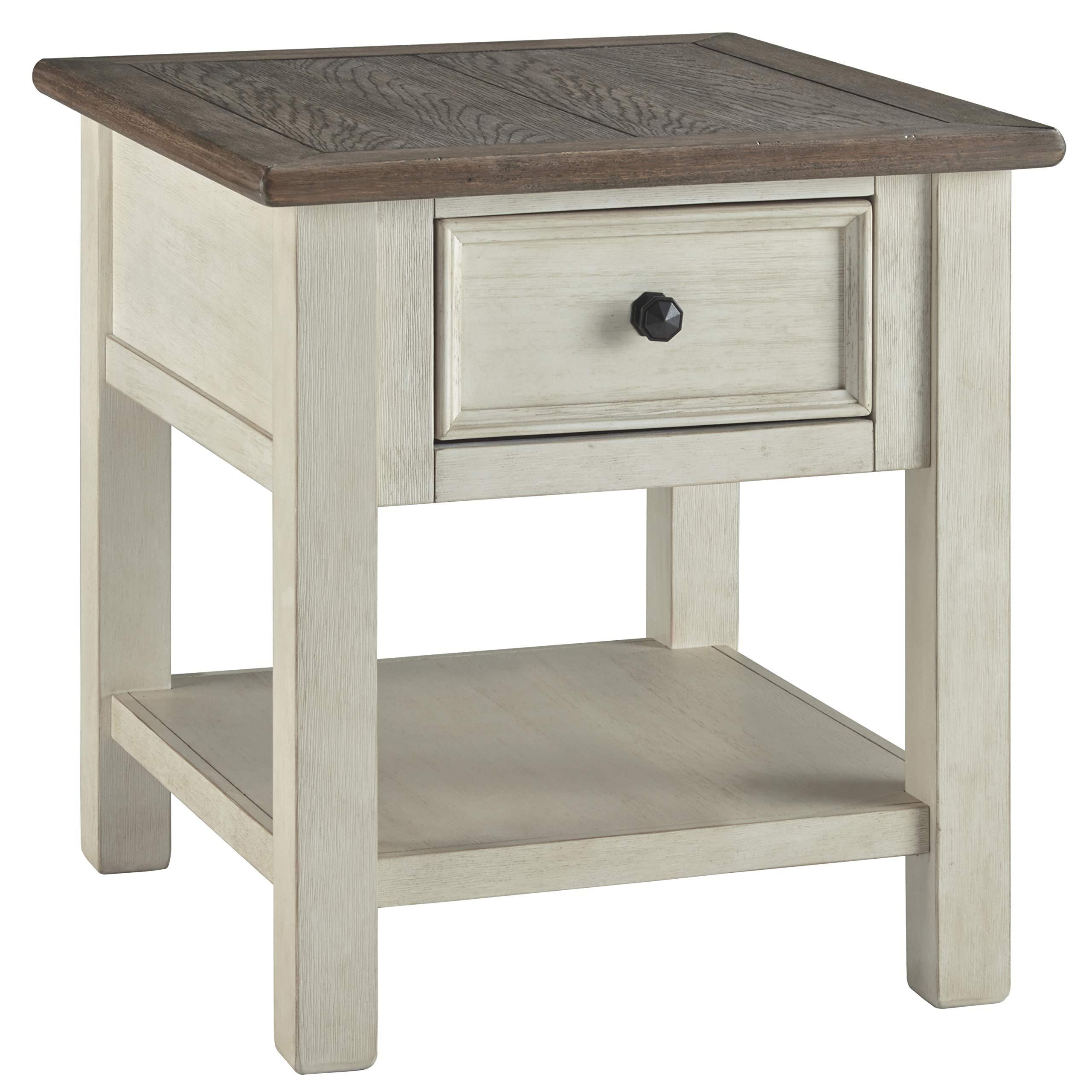Ashley Furniture Signature Design - Bolanburg Rectangularside Table, Two-Tone by Signature Design by Ashley