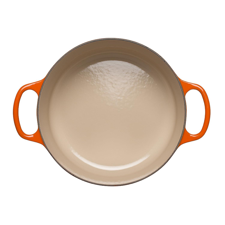 Volcanic 6.7 Litre 28 cm LE CREUSET Signature Enamelled Cast Iron Round Casserole Dish with Lid 211772809