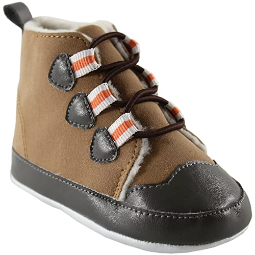 Amazon Com Luvable Friends Baby Faux Suede Winter Hiking Boots