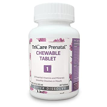 Amazon Com Tricare Prenatal Chewable With L Methylfolate Quick
