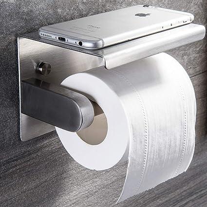 Toilettenpapierhalter Rollenhalter Klopapierhalter ohne bohren Edelstahl Silber