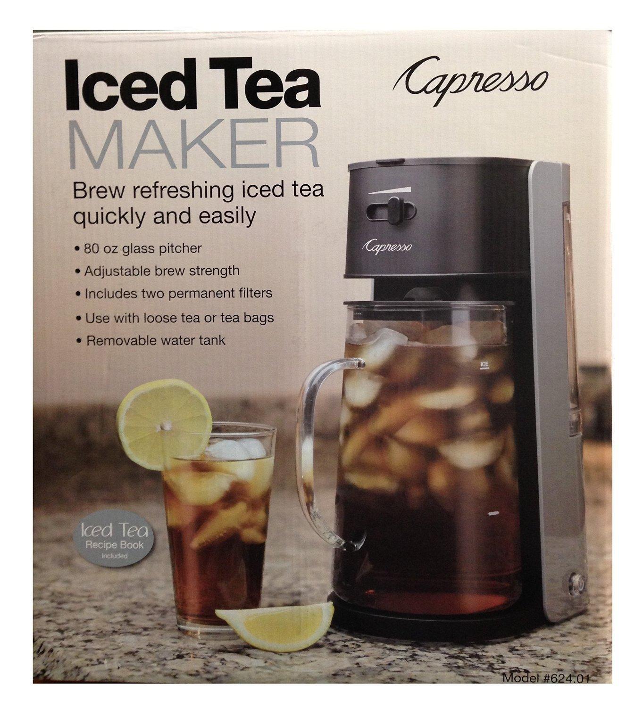 Capresso Ice Tea Maker #624 Black & Silver by Capresso