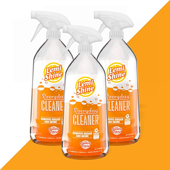 Lemi Shine Everyday Cleaner All Purpose Cleaner Spray With Fresh Lemon Scent Multi Surface Cleaner With Powerful Citric Extracts 28oz 3 Pack Grocery Gourmet Food Amazon Com