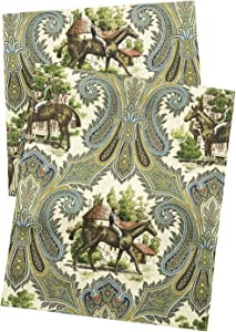 Horse Decor Table Runners 90 Inch Decorative Tablecloth Alternative, Kentucky Derby Decorations, Country Rustic Farmhouse Table Linens Blue