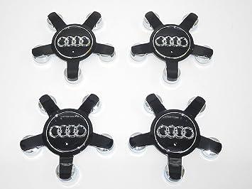 Juego de 4 tapacubos de aleación para Audi A3 A4 Q3 Q5, 5 compartimentos, color negro, parte nr 8R0601165: Amazon.es: Coche y moto