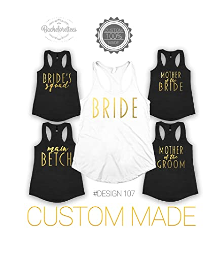 390d0ed3 Bride Bridsmaid Bachelorette shirts , Maid of Honor tank, Mother of the  Bride, bridal