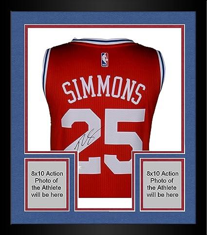 Framed Ben Simmons Philadelphia 76ers Autographed Red Alternate Jersey -  Upper Deck - Fanatics Authentic Certified 2f0d46811