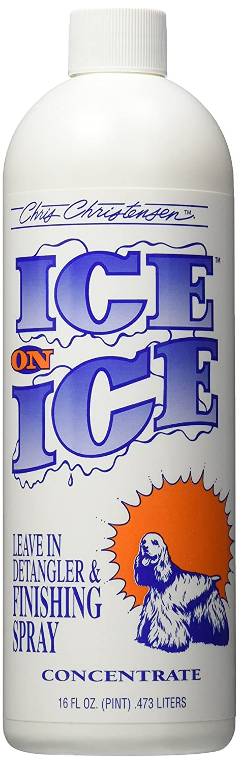 Chris Christensen Ice on Ice Finishing Spray and Detangler with Sunscreen, Concentrate.