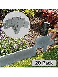 Stone Border Edging For Gardens Garden edging amazon 5m grey stone workwithnaturefo