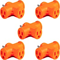 Deals on 5-Pack GE Outlet T-Shaped Adapter 50912