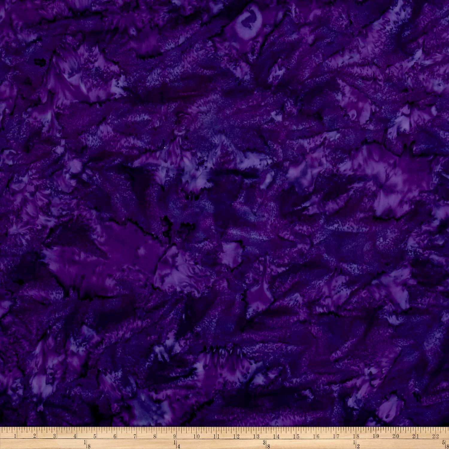 Hoffman BATIK QUILT FABRIC ~ Stars on Purple
