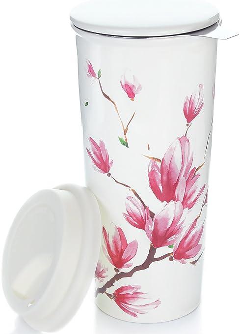 Amazoncom Willow Everett 16oz Ceramic Travel Mug With Lid