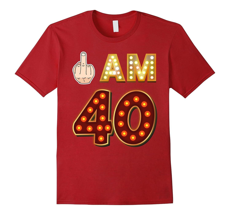 40TH BIRTHDAY T Shirt Vintage Retro Style Tee Shirt-4LVS