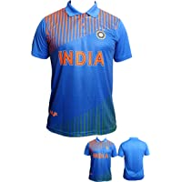 Slyk Team India Cricket Supporter Jersey T-Shirt for Kids to Adult - Unisex
