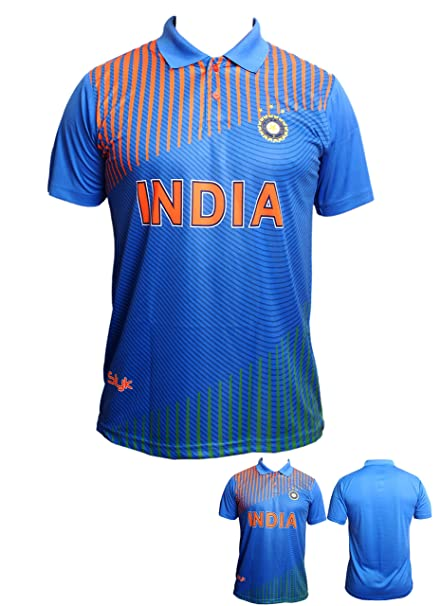 Slyk Team India Cricket Supporter Jersey T Shirt For Kids To Adult Unisex