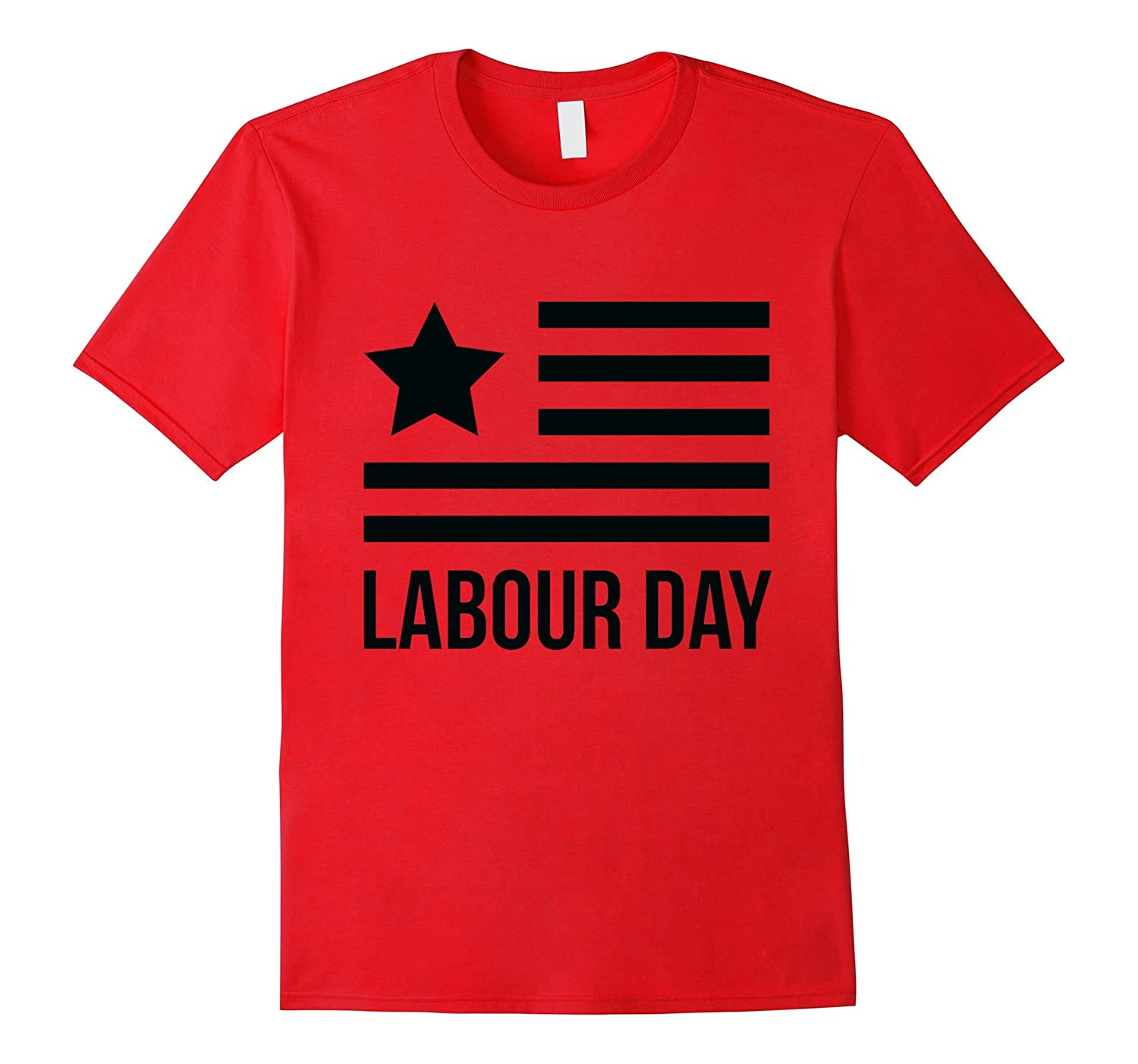 Labour Day With USA Star Flag T-Shirt-BN