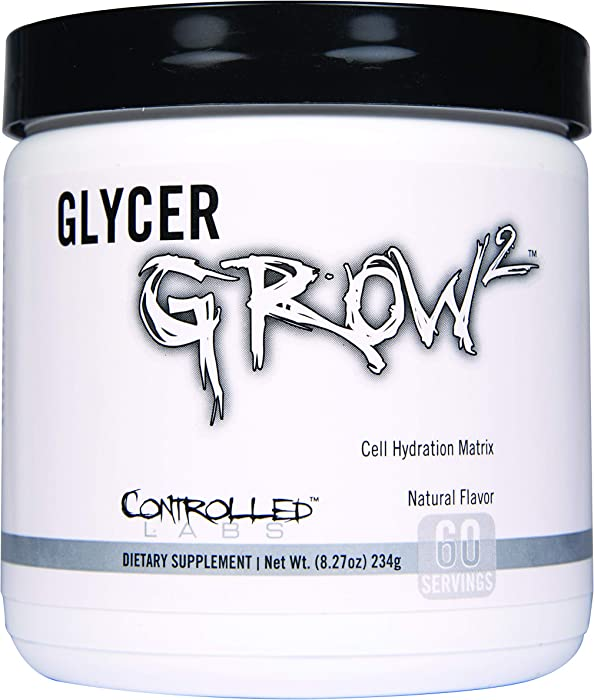 Controlled Labs GlycerGrow 2, Increase Cell Volume and Vascularity, Helps Improve Endurance, Growth, and Recovery, Helps Maintain Workout Intensity, 60 Servings, Unflavored