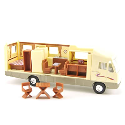 Toy Motorhome, Changeable Interior, Motorized Pull Back Action, 7.5-inch, Recreational Vehicle RV : Toy Chests : Baby