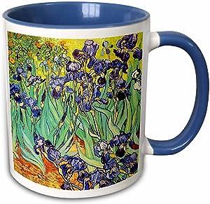 "3dRose Irises By Vincent Van Gogh 1889"" Mug, 11 oz, Blue"
