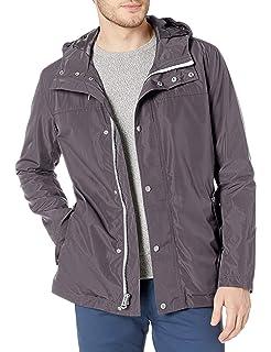 Cole Haan Mens Modern Rain Hooded Jacket