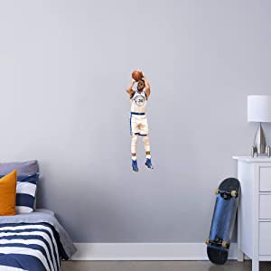 FATHEAD NBA Golden State Warriors Steph Curry Steph Shooting- Officially Licensed Removable Wall Decal