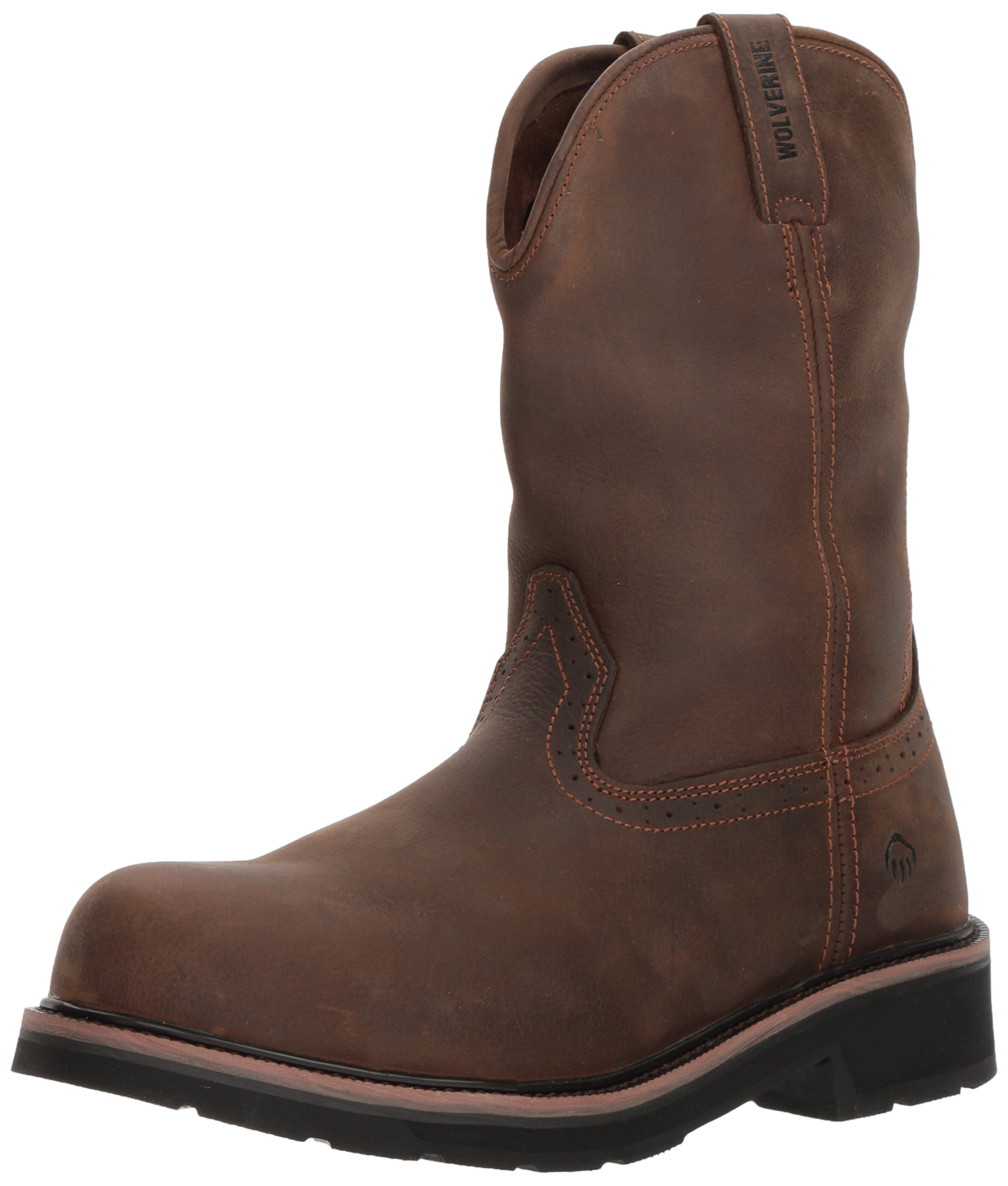 Wolverine Men's Ranchero Steel-Toe Wellington Construction Boot, Summer Brown, 11 Extra Wide US