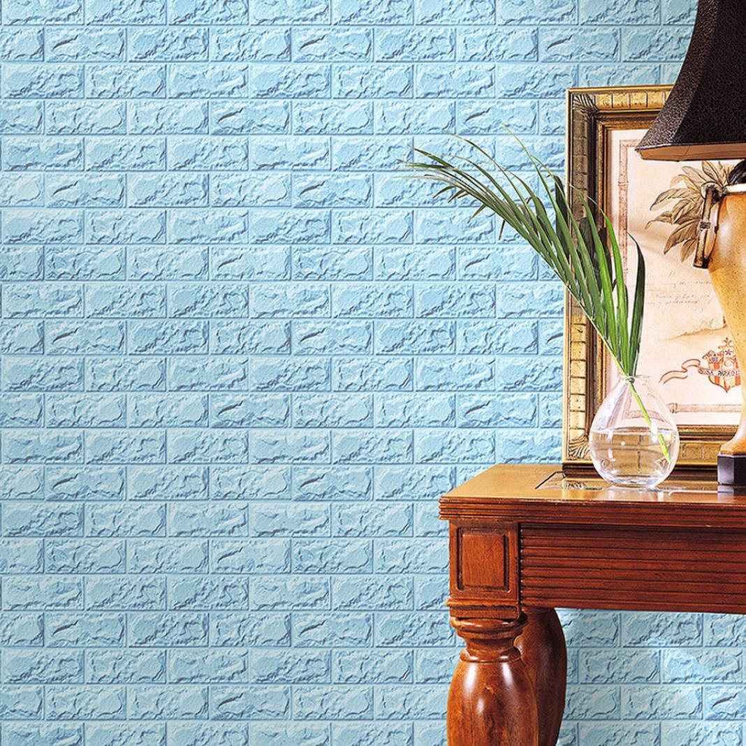 Amazon.com: Yanvan Wall Stickers PE Foam 3D Brick Wall Stickers DIY Wallpaper Wall Decor Embossed Brick Stone- Wall Panels for Living Room Bedroom ...