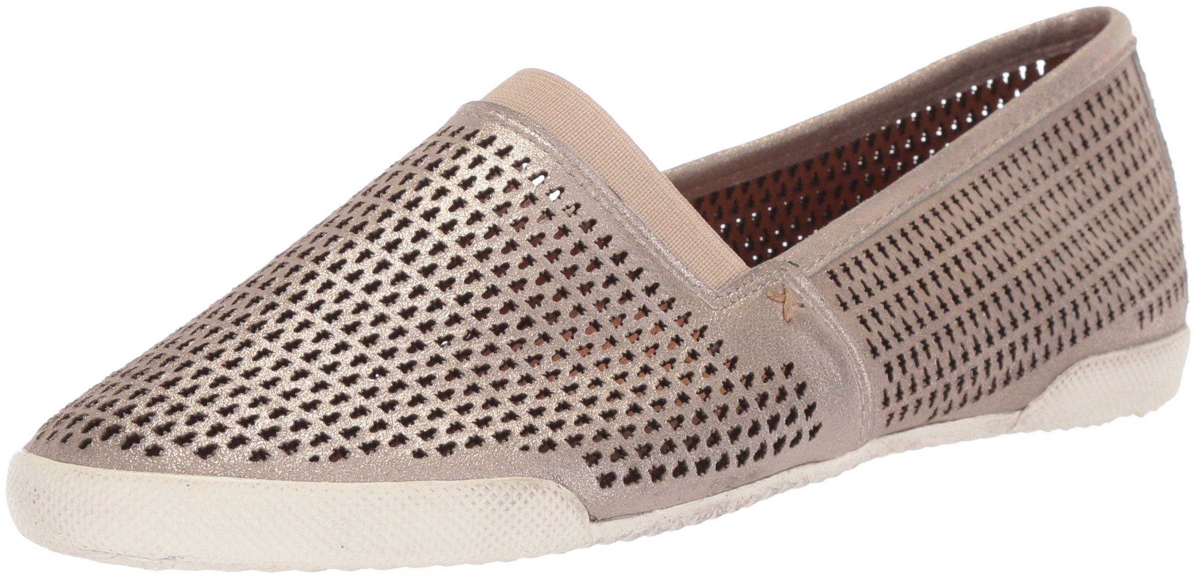 FRYE Women's Melanie Perf Slip On Sneaker, Silver, 8 M US