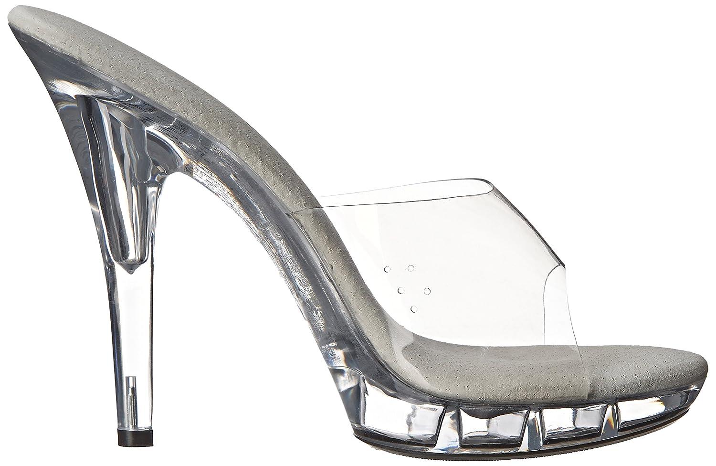 Ellie Shoes Women's M Vanity Platform Sandal, Clear, 9 M US