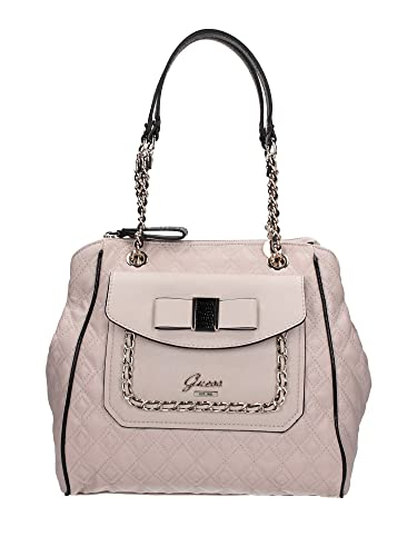 GUESS Logo Dolled Up Quilted Satchel Bag Handbag (Light Rose ...