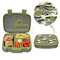 Bentgo Kids Prints (Camouflage) - Leak-Proof, 5-Compartment Bento-Style Kids Lunch...