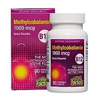 Natural Factors, Vitamin B12 Methylcobalamin 1000 mcg, Chewable Support for Energy...