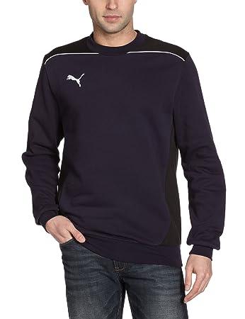 Puma Kinder Sweatshirt Foundation Sweat, New Navy-Black, 128, 653100 06