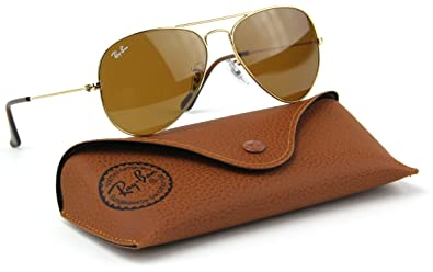 cafbe004e06 Image Unavailable. Image not available for. Color  Ray-Ban RB3025 001 33  Gold Frame   Crystal Brown Lens 55mm
